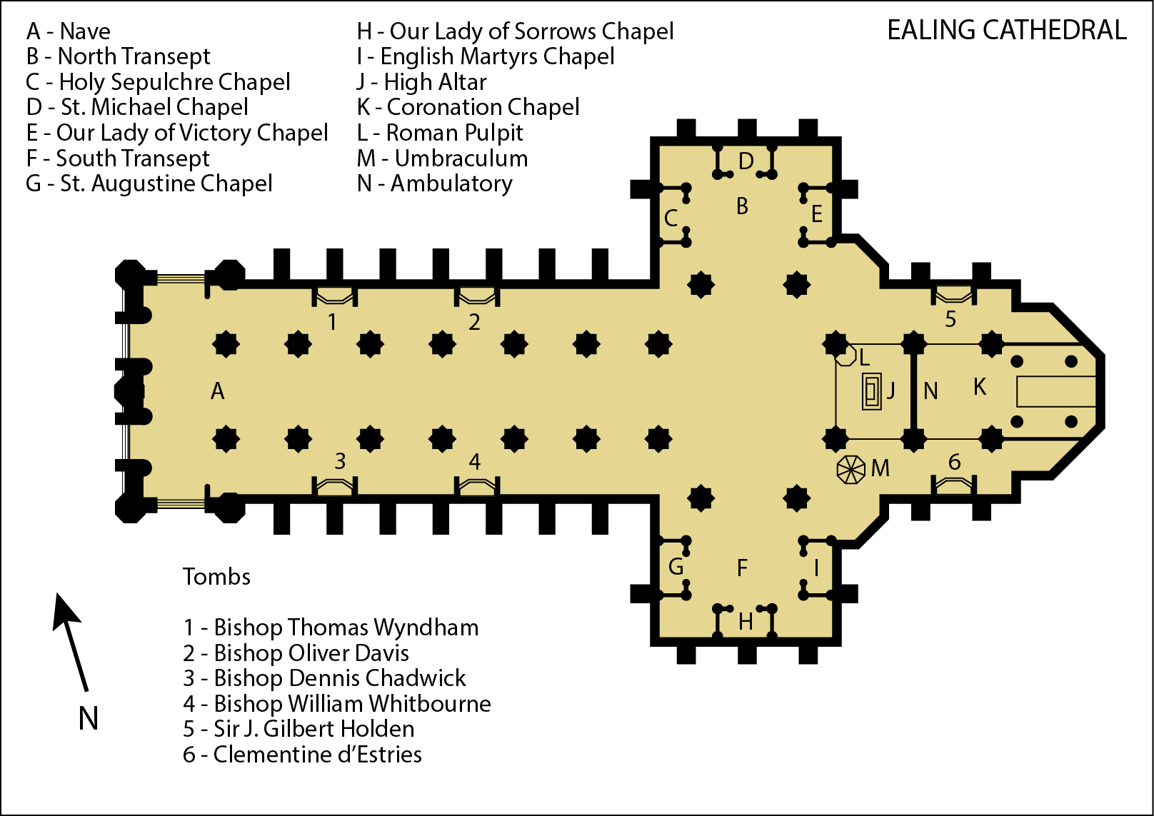 Ealing Cathedral map